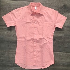 American Apparel short sleeve Oxford shirt, sz XS